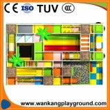 Скольжение спортивной площадки малышей крытое для крытой рекламы центра игры (WK-71020K)