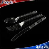 Vaisselle remplaçable en plastique de Cutlery& dans la couleur bleue