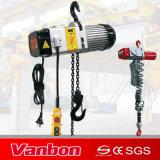 palan électrique à chaîne 200-400kg 1/3phase avec le contacteur de commande intégré