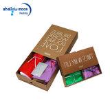 Brown Kraft кладет коробку в коробку упаковки шарфа бумажную с изготовленный на заказ логосом