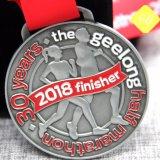 Comercio al por mayor de esmalte chapado en deportes de carrera de la ejecución de las medallas personalizadas