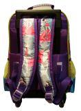 Kursteilnehmer zurück zu Schule fahrbarem Laufkatze-Walzen-Rucksack-Beutel