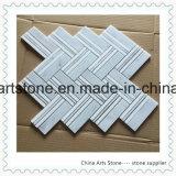 Mosaico di marmo bianco della Cina Bianco Carrara per le mattonelle della parete