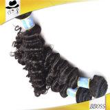 100%の加工されていないブラジルの人間の毛髪の拡張