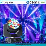 UL 19PCS die 15W RGBW 4in1 de Hoofd LEIDENE Lichten van het Effect bewegen