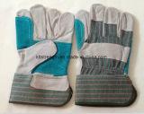 Dubbele Palm/de Herstelde Werkende Handschoenen van het Leer van de Koe van de Palm