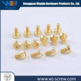 La precisión de OEM de acero inoxidable chapado de cobre Tornillo de cabeza redonda
