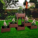 Stapelbarer Blumen-Potenziometer mit bauen Pflanzer-modulares angehobenes Garten-Bett zusammen