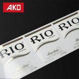 Da prova térmica da água do forro do animal de estimação da etiqueta de transferência do OEM etiqueta autoadesiva do produto da etiqueta do vinho da etiqueta
