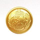 無光沢の金の浮彫りにされたロゴのプラスチックABSシャンク・ボタン