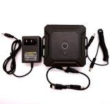 12V impermeabilizan la batería 5000mAh para la cámara de la radio con el alumbrador del cargador y del cigarrillo