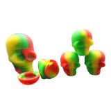 Formato do crânio Bho Silicone contêineres de cera jarros de Cera de Silicone Recipiente Cera DAB