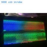 Het Licht van de Stroboscoop DMX 3000 met RGB Effect van de Kleur