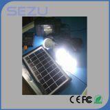 Sistema di illuminazione domestico solare nero, 10 -Un in cavo, lampadine del LED