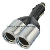 CC 12V 24V 2sockets della spina di adattatore di potere del caricatore del divisore dell'accenditore della sigaretta dell'automobile