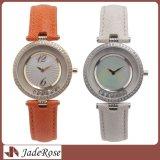 Reloj analogico unisex del cuarzo de la manera, reloj ocasional de lujo, reloj de cuero