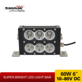 "6"" 60W blanco de doble fila y barra de luces LED de color ámbar"