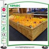 금속 두 배 옆 슈퍼마켓 과일 야채 진열대