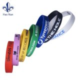 Muestra gratuita de silicona pulseras Pulsera de caucho con el logotipo estampado