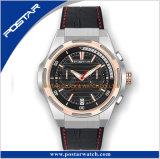 Chronograaf 20mm van het Horloge van Mens van de Luxe van het Embleem van de douane het Stevige Uitstekende Horloge van de Band