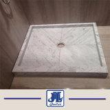 Bianco Cararra plato de ducha de mármol blanco Base para el cuarto de baño baldosas de mármol