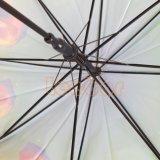까만 색깔 자동적인 Poe 물자 똑바른 우산, 선물 우산