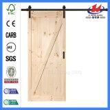 36 po. X 84 po. Porte de grange en bois de l'aulne 1-Panel