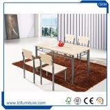安い木MDF表および椅子のダイニングテーブルセット