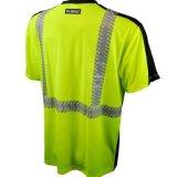 높은 시정 사려깊은 줄무늬 작업복 획일한 교통 안전 t-셔츠