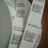 Tejido lavable de satén liso Serigrafiada etiquetas para prendas de vestir
