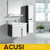 Mobília moderna do banheiro do MDF da madeira compensada branca da laca (ACS1-L31)