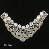 Applique de lacet de collier d'or de 39*30cm, laque de Venise d'or pour le bijou, vêtement modifié, cousant, collier Hme963 de costume