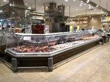 Gekoelde de Delicatessenwinkel van het vlees dient over de TegenKoelkast van de Vertoning voor Supermarkt