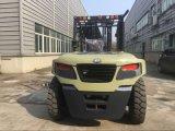 chariot élévateur diesel de terrain accidenté de la capacité 10ton grand