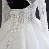 Платье длинней ткани Princess Венчания Мантии Applques Шнурка втулки Bridal