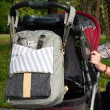 Trouxa feita sob encomenda da mamã do saco do tecido do bebê do organizador do carrinho de criança de bebê de China