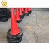 100cm PE Cone de tráfego com base em borracha macia / Cone de tráfego