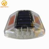 La seguridad del tráfico la carretera carretera Solar impermeable de plástico Stud 100x100x20 mm