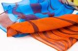 Цифровая печать пользовательских дизайн леди шелковые шарфы