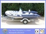 O desporto de Verão Marcação 4.7m costela Branco Barco de Pesca de fibra de vidro