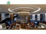 Dubai 7 Star Hotel Sofa Flesh Count Hotel Bar Wood Furniture Sets