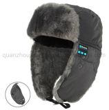 OEMの冬の暖かい耳の折り返し音楽無線Bluetoothのイヤホーンの帽子