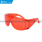 Anti-Fog 빨간 보호 안경 유리제 UV 방어적인 치과 눈