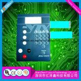 Commutateur de commande électrique de membrane d'impression multicolore de circuit avec le poly dôme