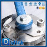 Didtek 2 parti ha flangiato valvola a sfera di galleggiamento con la leva di gestione
