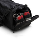 Men Women Outdoor Waterproof Black Tote Luggage Travel Duffel Bag