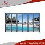 Puertas BI-Plegables esmaltadas dobles exteriores del aluminio a prueba de viento fuerte
