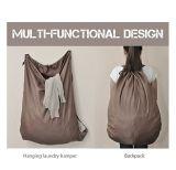 Packbag 졸라매는 끈 나일론 호텔 여행 세탁물 부대를 세척하는 새로운 디자인 주문 로고