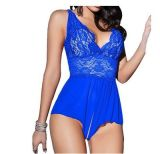 Sexy Lingerie Adult Sleepwear Open Crotch Sexy Baby Fraud Costumes Pajamas Teddy for Women Laces Babydoll
