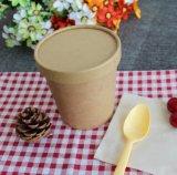 クラフト紙行く使い捨て可能なCompostable食糧容器熱いスープコップ